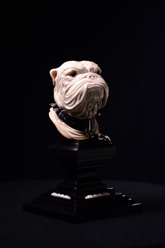 ENGLISH BULLDOG. Cabinet sculpture